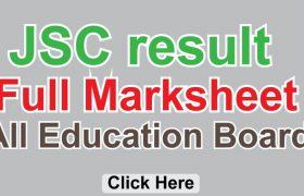 JSC Result Marksheet 2019